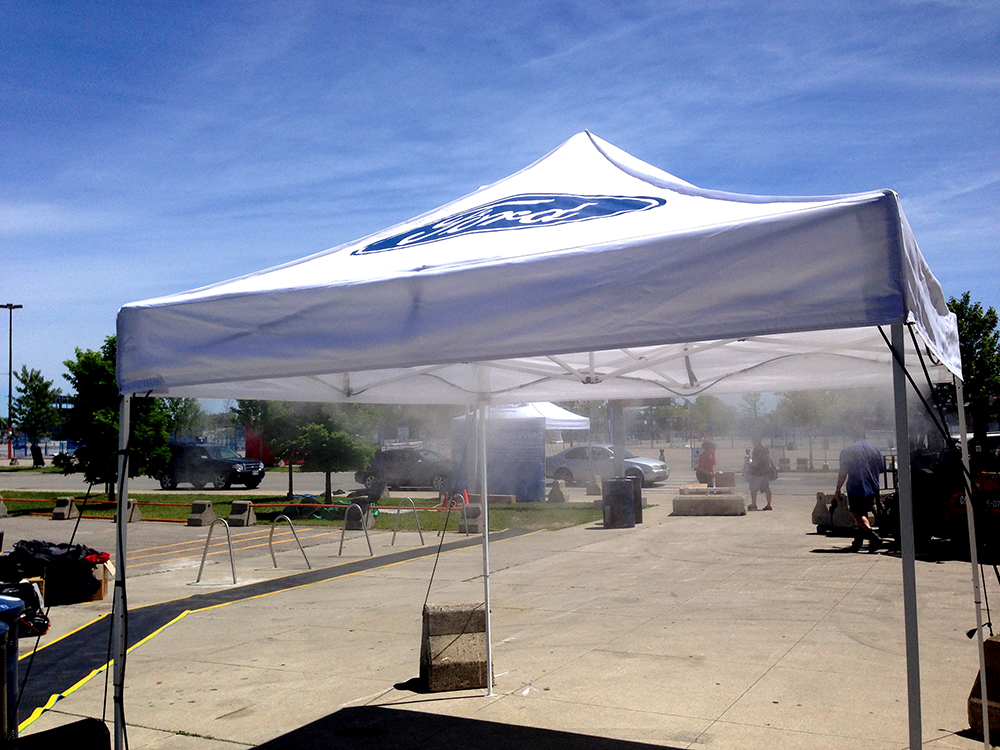 UMS cooling tent & UNIVERSAL MISTING SYSTEMS.COM | UMS cooling tent